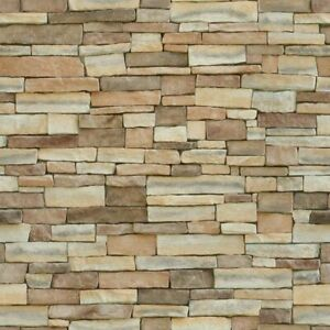 2 SHEETS stone wall 20x28cm 1/6 Scale PAPER EMBOSSED +SELF ADHESIVE  textured