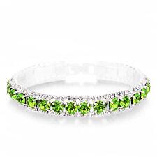 Peridot Green Crystal Rhinestone Bracelet  (Sparkle-2666)