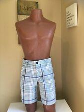 dockers shorts Bermuda For Men Sz 29 Plaid Green Waistband Strech. NEW🏷