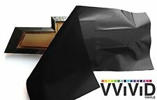 VVIVID Gloss Black Auto Emblem Vinyl Wrap Overlay Cut-Your-Own Decal for Chev...
