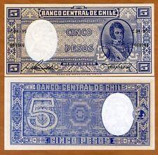 Chile, 5 Pesos, ND (1958-1959), P-119, UNC