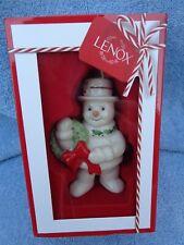 "Lenox ""Happy Holly Days"" Snowman Christmas Ornament"