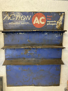 Vintage AC Spark Plug Display Sign - Service Gas Station Automotive