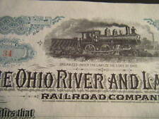 "Ohio River and Lake Erie Railroad Company CRISP unissued ""189__"" Smoking Loco !"