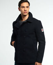 Superdry Mens Rookie Pea Caot Navy Blue Double Breasted. Military Style Jacket XL