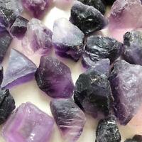 100g Natural Purple Fluorite Rough Rock Crystal Quartz Stone Healing Mineral Lot