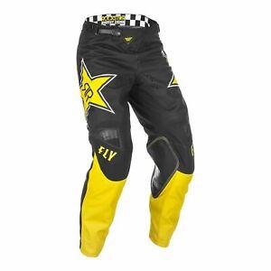 Motocross Pants Trousers > Fly 2021 Kinetic Rockstar MotoX Off-Road Yellow/Black