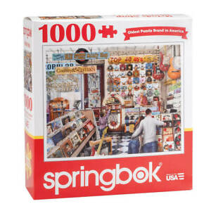 The Melody Shop Jigsaw Puzzle 1000-Pc Nostalgic Music Record Store Non-Toxic Ink