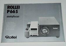 Manuale di istruzioni originale Rollei p66s AF manual, manuale di istruzioni P 66 S
