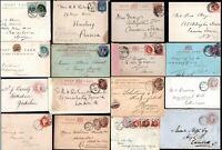 1845 - 1903 GB Qv Bezüge Poststempel Mit Vorgedruckt Registrierte Postal History