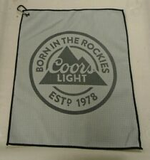 Coors Light Microfiber Golf Towel w/ Carabiner New