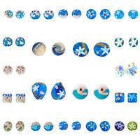12pcs Ocean Theme Handmade Lampwork Glass Beads DIY Summer Beach Craft 23 Style