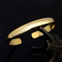 Fashion Women Gold Open Cuff Bangle Wristband Bracelet Chain Wedding Jewelry New