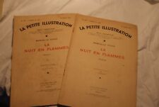 LA PETITE ILLUSTRATION vol 2 - LA NUIT EN FLAMMES ROMAN DE M. VIOUX -