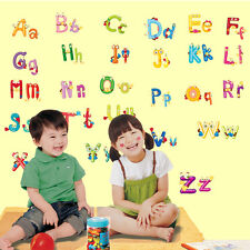 Alphabet Letters Stickers Big Graphic Kids Room Nursery Wall Decal Decor AZ Word