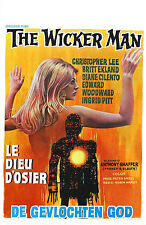 The Wicker Man (3) - Christopher Lee - A4 Laminated Mini Movie Poster