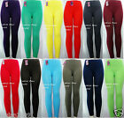 Skinny Leggings Footless Plain Pants One Size(fits S M L XL) New EX900