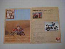 advertising Pubblicità 1989 APRILIA TUAREG 600 WIND