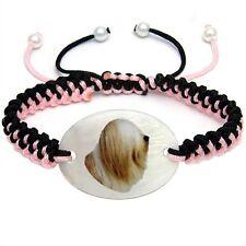 Tibetan Terrier Natural Mother Of Pearl Adjustable Knot Bracelet Chain BS199