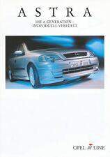 Irmscher Astra Zubehör Prospekt 4/98 brochure 1998 Auto PKWs Autoprospekt Europa