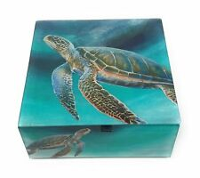 Value Arts Sea Turtle Keepsake Box, 4.75 Inches Square