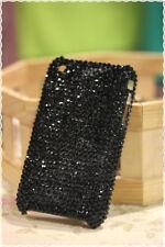 Cover custodia rigida iphone 3 e 3gs strass applicati a mano colore nero