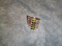 Permanent 5 Spells ring Psychic Evolution, Prosperity, Protection, Love, Wealth