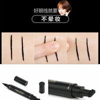 Winged Eyeliner Stamp Waterproof Makeup Cosmetic Eye Liner Pencil Black Liquid--