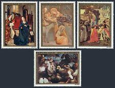 Dahomey C195-C198,MNH. Christmas 1973.Dirk Bouts,Giotto,Botticelli,Bassano.