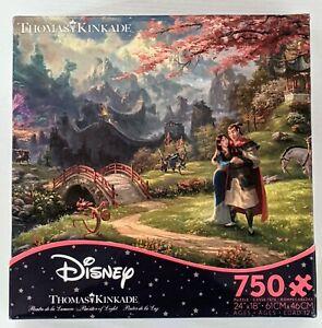 CEACO Thomas Kinkade Disney Jigsaw Puzzle MULAN BLOSSOMS OF LOVE 750 Piece