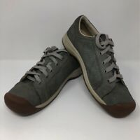 Keen Womens Reisen Lace Up Shoes Gray Perforated Low Top 10.5