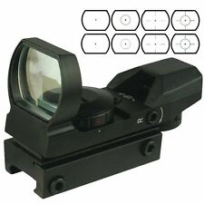 Tactical holographic Reflex Red/Green Dot Sight 4 Reticles 20mm Rail