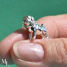 Sterling Silver Pug Dog Jewellery Charm