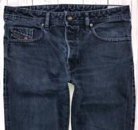 Mens DIESEL Buster Jeans W34 L30 Blue Regular Slim Tapered Wash 0841E