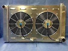 31 X 19 BRAND NEW ALUMINUM RADIATOR WITH CHROME ELECTRIC FANS 1024