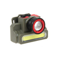 Zoomable Q5+COB LED Rechargeable Headlamp Headlight Camping Flashlight Light New