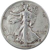 1944 Liberty Walking Half Dollar AG About Good 90% Silver 50c US Coin
