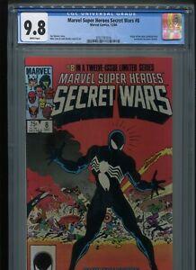 Marvel Super Heroes Secret Wars #8 (1984) CGC 9.8 WHITE pages VENOM! Symbiote!