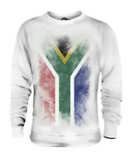 SOUTH AFRICA FADED FLAG UNISEX SWEATER TOP SUID-AFRIKA FOOTBALL AFRICAN SHIRT