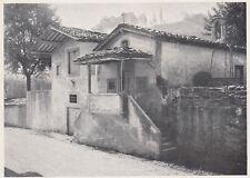 D6894 Figline Valdarno - Oratorio di San Pietro - Stampa d'epoca - 1930 print