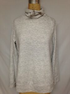 32 Degrees Fleece Quilted Funnel-Neck Top TLF82572ME  Grey ( White SD Combo) NWT