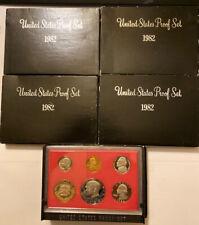 1982 US Proof Sets. 25 Coins In 5 Set Lot.