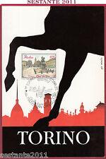 ITALIA MAXIMUM MAXI CARD PIAZZA SAN CARLO TORINO GIO MINOLA 1987 B461