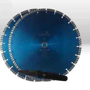 2 Stück Diamant-Trennscheibe Diamantscheibe Ø 350 x 20 NORDMANN N10 Turbo Beton