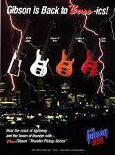 1987 Gibson Thunder Series 20/20 IV V Q-80 Bass Guitar photo vintage print ad