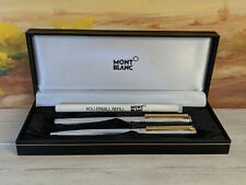 MONTBLANC Noblesse Silver Plated Ballpoint & Rollerball Pen Set