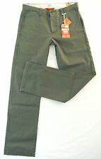 Dockers chino Broken en caqui w31 l32 slim fit Army Green verde oliva straight nuevo