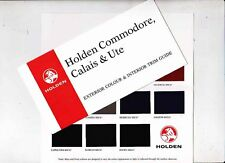 1998 HOLDEN VT COMMODORE CALAIS & UTE Exterior & Interior Colour Chart