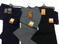 Men's Farah Trousers Navy /Black/Grey/ Oak Mrl Original Hopsack Weave Anti Stain