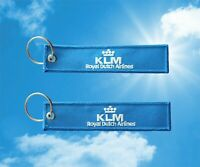 KLM Royal Dutch Airlines Keychain Keyring